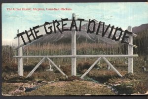 Alberta STEPHEN The Great Divide Canadian Rockies - pm1914 - Divided Back