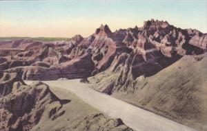 Going Up to The Pinnacles The Badlands Nat Monument South Dakota Hand Colored...