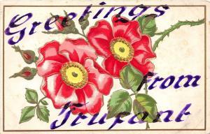 C97/ Trufant Michigan Mi Postcard 1908 Greetings from Trufant Miichigan