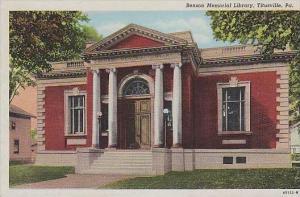 Pennsylvania Titusville Benson Memorial Library