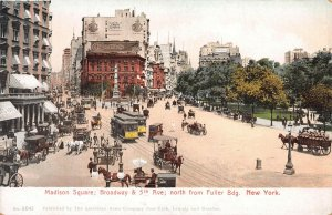 Madison Square, 5th Avenue & Broadway, New York City, Early Postcard, Unused