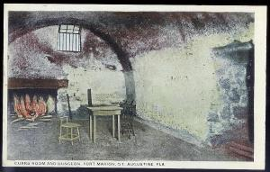 Guard Room Dungeon Fort Marion St Augustine FL unused c1915