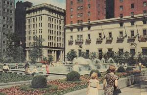 PITTSBURGH, Pennsylvania, 1950-60s; Mellon Square