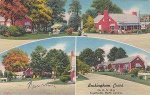 North Carolina Fayetteville Buckingham Court 1956 Albertype