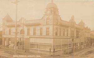 F26/ Albany Oregon RPPC Postcard 1909 Elks Temple Building