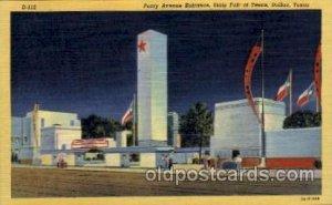 Parry Avenue Enterance 1936 Dallas Texas USA Centenial Exposition Unused