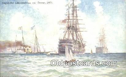 Englische Linienschine Vor Dover, 1865 Sailboat Unused close to perfect