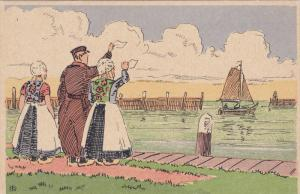 MARKEN, Noord-Holland, Netherlands, 1900-1910's; Isle Of Marken, Drawing, Say...