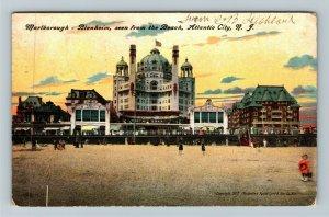 Atlantic City NJ-New Jersey, Marlborough Blenheim Beach Vintage c1908 Postcard