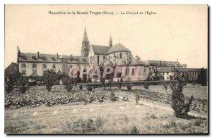 Postcard Old Monastery of La Grande Trappe Orne Chevet of Etglise