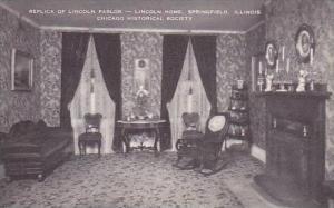 Illinois Springfield Replica Of Lincoln Parlor Lincoln Home Chicago Historica...