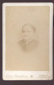 REAL PHOTO CABINET CARD JOHNSTOWN PENNSYLVANIA PA. DOROTHY TROXEL WOMAN
