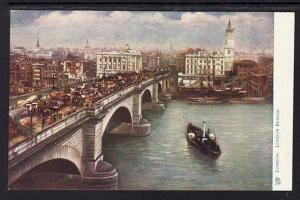 London Bridge London England UK Tuck's Post Card 5341