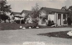 A32/ Jarvis Ontario Canada Postcard Honeyman's Orchard Camp c40s Real Photo RPPC