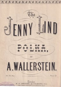 The Jenny Lind Polka A Wallerstein Olde Sheet Music