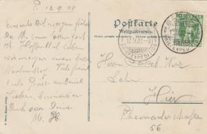 BASEL , Switzerland , 1908 ; Bundesbahnhof