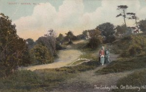 BILBERRY HILL, England, 1900-10s; Couple walking through The Lickey Hills