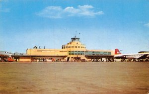 Chicago Midway Airport Planes Illinois 1958 postcard
