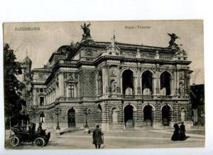 171959 GERMANY Augsburg Stadt-Theater City Theatre CAR RPPC
