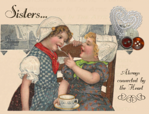 Single (one), Old Fashioned Postcards, Celebrating the Bond between Sisters, Tea