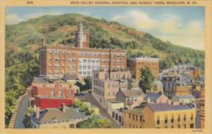 West Virginia Wheeling Ohio Valley General Hospital and Nurses Home Curteich