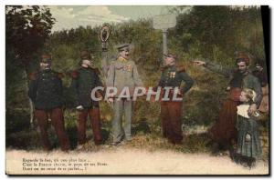 Postcard Old Customs Customs Customs France Germany