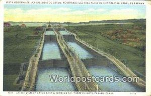 Gatun Locks Panama Canal Panama 1938 Missing Stamp