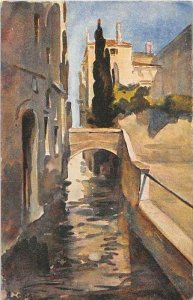 Italy, Venezia, Rio delle Erbe, artist signed