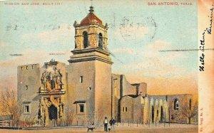 SAN ANTONIO TX~MISSION SAN JOSE -BULT IN 1711~1907 NIC. TENGG #5 POSTCARD
