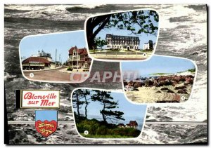 Modern Postcard Blonville Sea Route Deauville City Hote Post and stop the Bla...