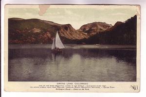 Sailboat, Grand Lake, Burlington Route, Colorado