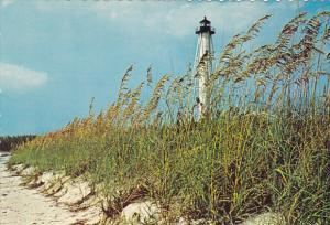 Florida Sea Oats and Sand Dunes with Lighthouse