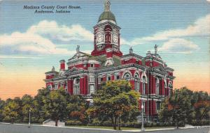 Madison County Court House, Anderson, Indiana, Early Postcard, Unused