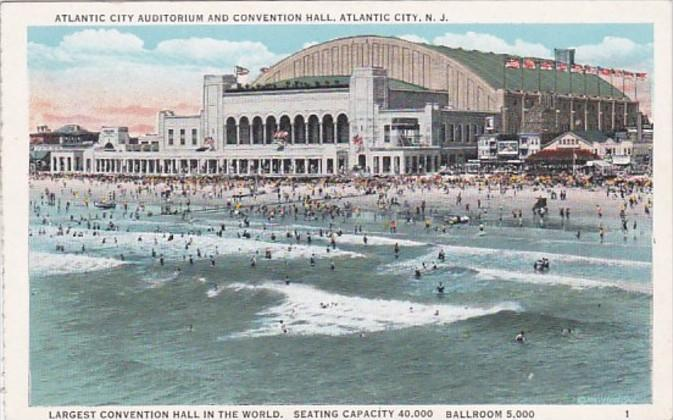 New Jersey Atlantic City Auditorium and Convention Hall