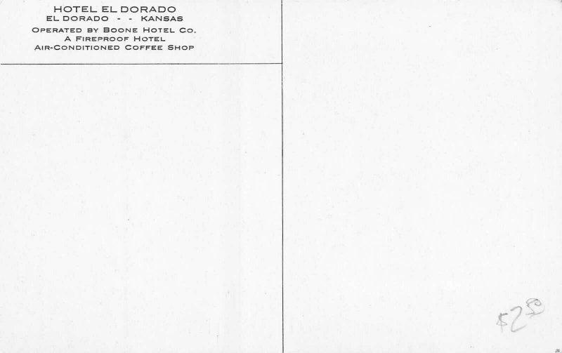 El Dorado Kansas~El dorado Hotel~Coffee Shop~Theatre Marquee~1940s Cars~B&W PC