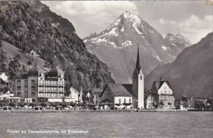 Switzerland Fluelen am Vierwaldstaettersee mit Bristenstock 1961 Photo