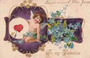 Valentine Greetings, Happy Cherub- To My Valentine, PU-1908