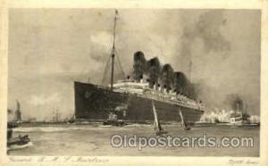 R.M.S. Mauretania Cunard Line, Ship Unused light wear left top corner tip, re...