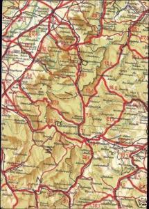 germany, FREUDENSTADT, Baden-Württemberg, MAP Postcard
