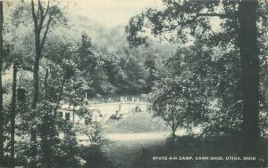 Utica Ohio~State 4 H Camp~Camp Ohio~bridge~Today We tour Farm~1961 Postcard