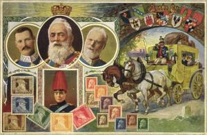 germany, King Ludwig III of Bavaria (1910s) Bayern Stamp Postcard