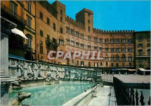 Postcard Modern Siena Fountain Care and Palace Sancedom