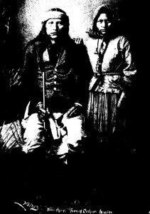 Apache Indian Son Of Cochise Naiche and His Wife Photographed May...