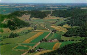 Coulee-La Crosse Wisconsin~Fields in Heart of Coulee Region~1960s Postcard