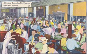 Las Vegas NV -  A TYPICAL GAMBLING HALL IN 1940s NOT THE SAME TODAY!