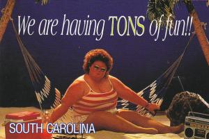We Are Having Tons Of Fun In South Carolina Fat Lady On Hammock