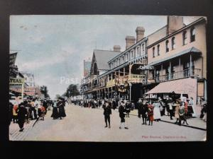 Essex CLACTON ON SEA Pier Avenue busy Animated Street Scene c1908 by H.H. Clarke