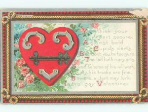 Divided-Back VALENTINE DAY SCENE Great Postcard W7835
