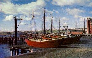 Canada - Nova Scotia, Lunenburg. Wharf, Boats