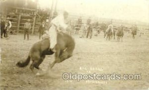 Bill Barns on Jesse James, Real Photo Western Unused light crease right top c...